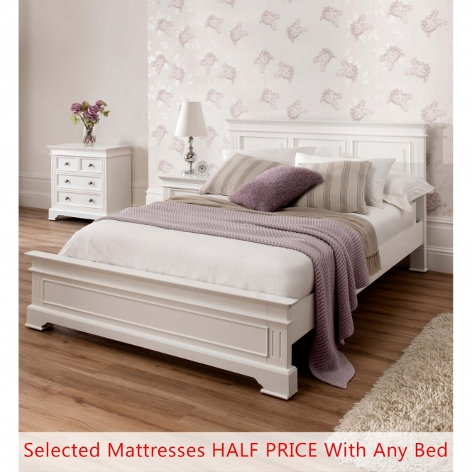 Sophia Shabby Chic Bed - Kingsize Half Price Mattress Bundle