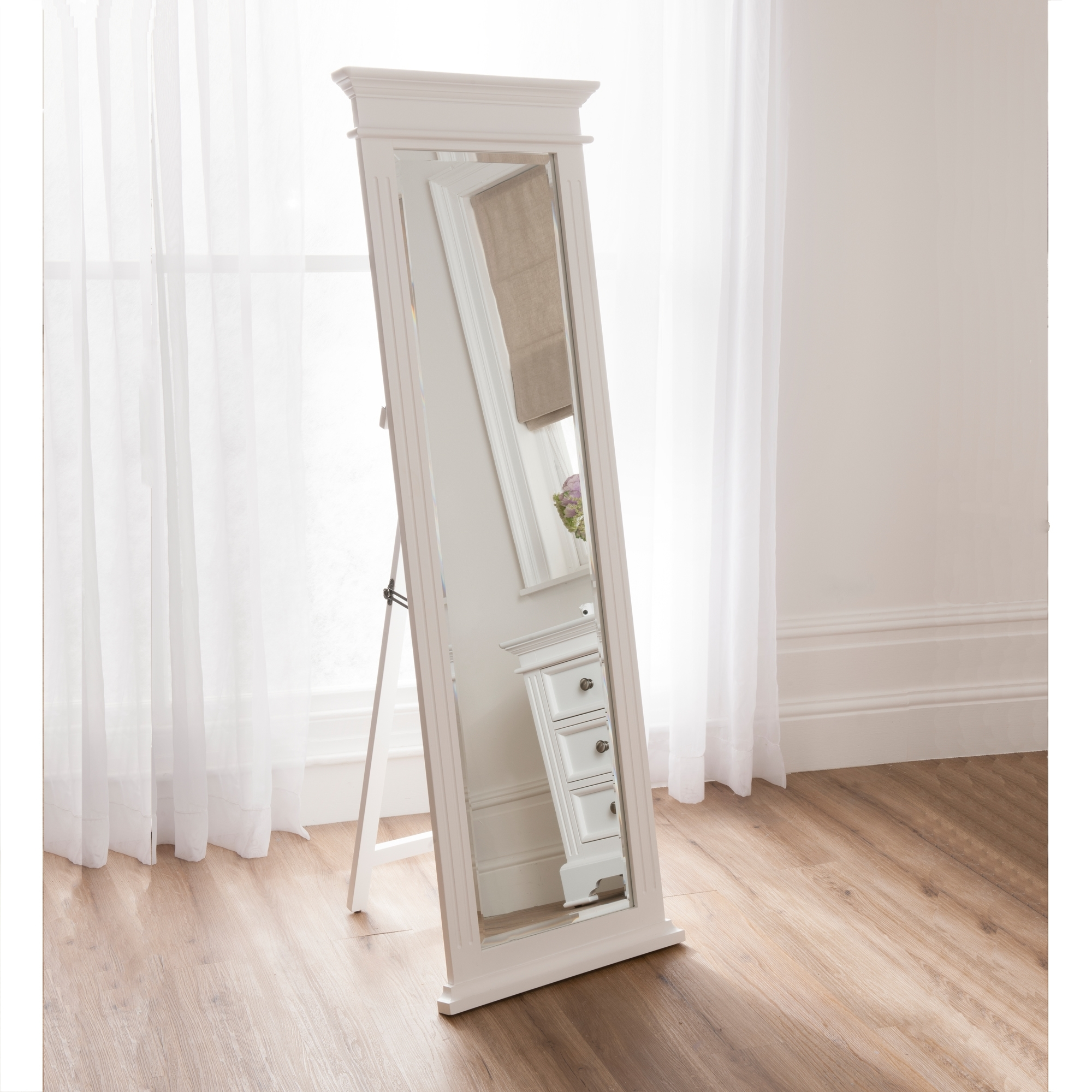 Sophia shabby chic cheval mirror works well alongside our for Long standing mirror