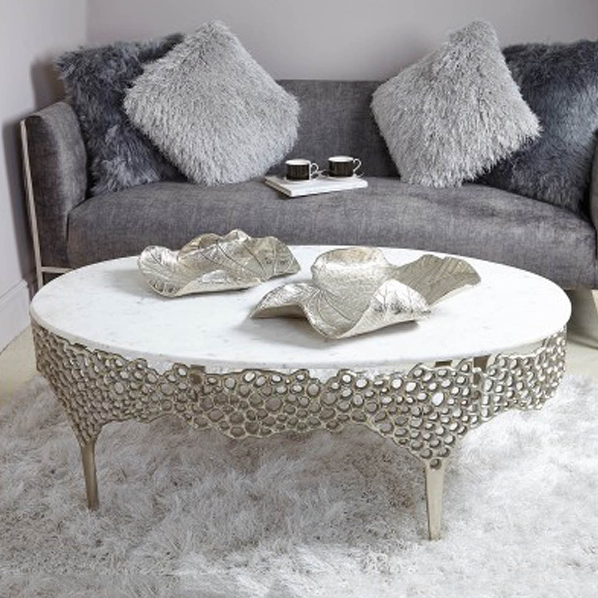 Sophie Coffee Table Modern Contemporary Marble Coffee Tables