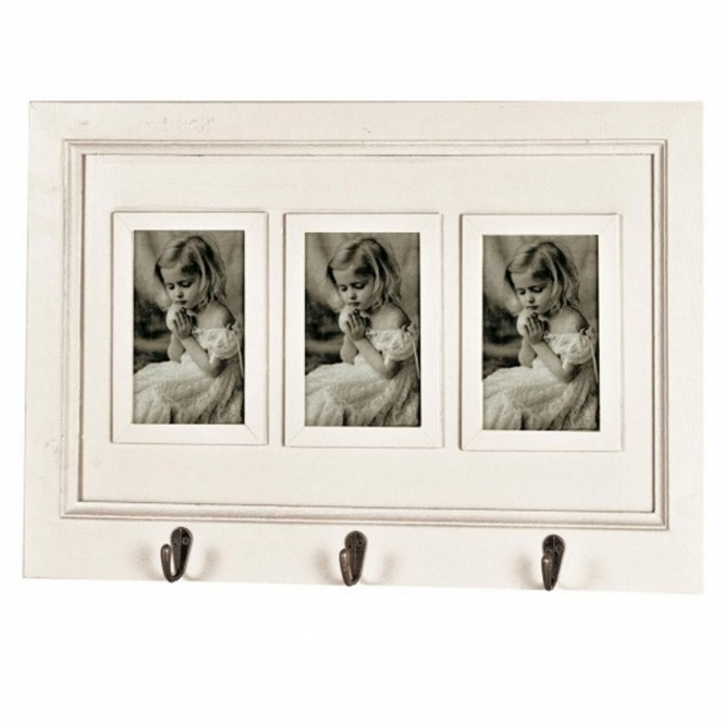 Sophie Triple Photo Frame with Wall Hooks
