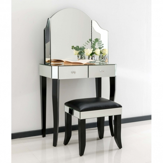Sorrento Mirrored Dressing Table Set