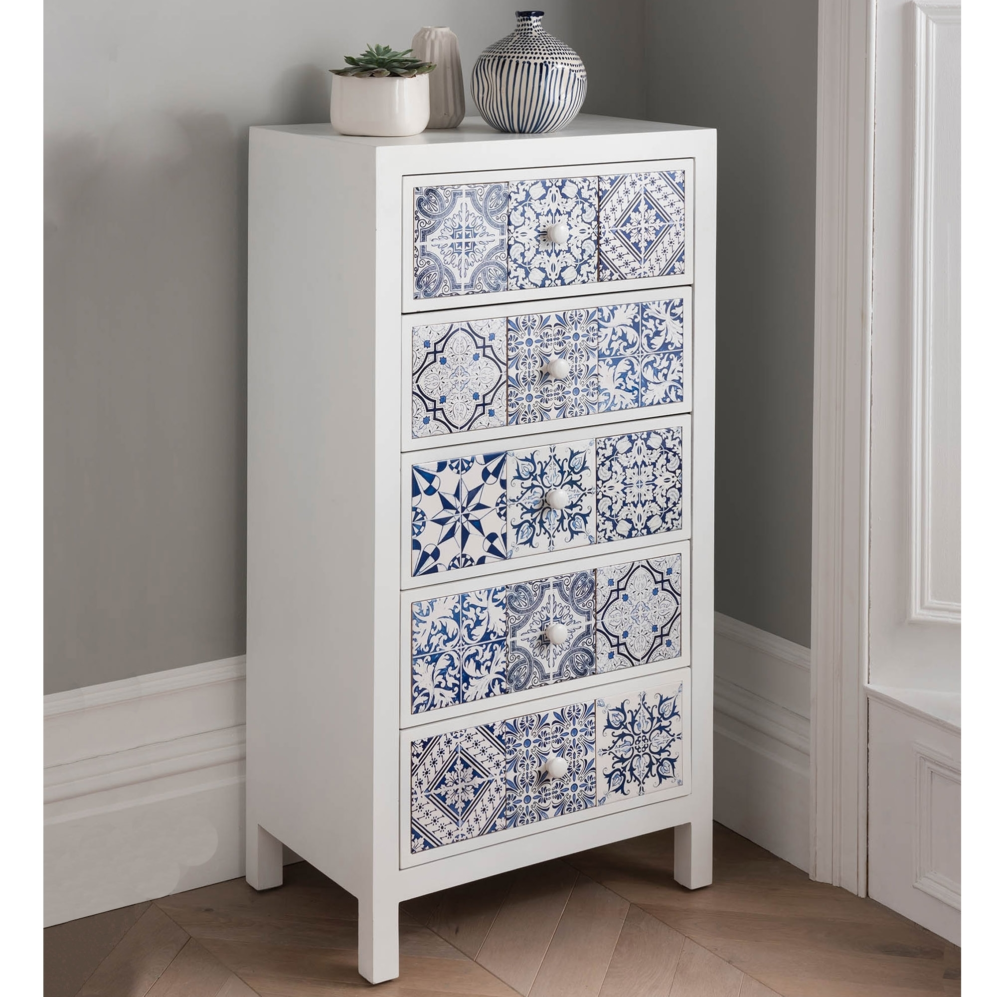 Patterned Tallboy Chest Chest Of Drawers Tallboy Chest