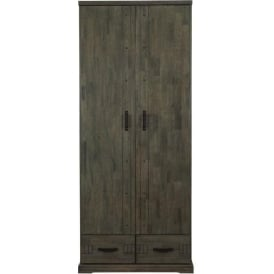Spark Industrial Style 2 Door Wardrobe
