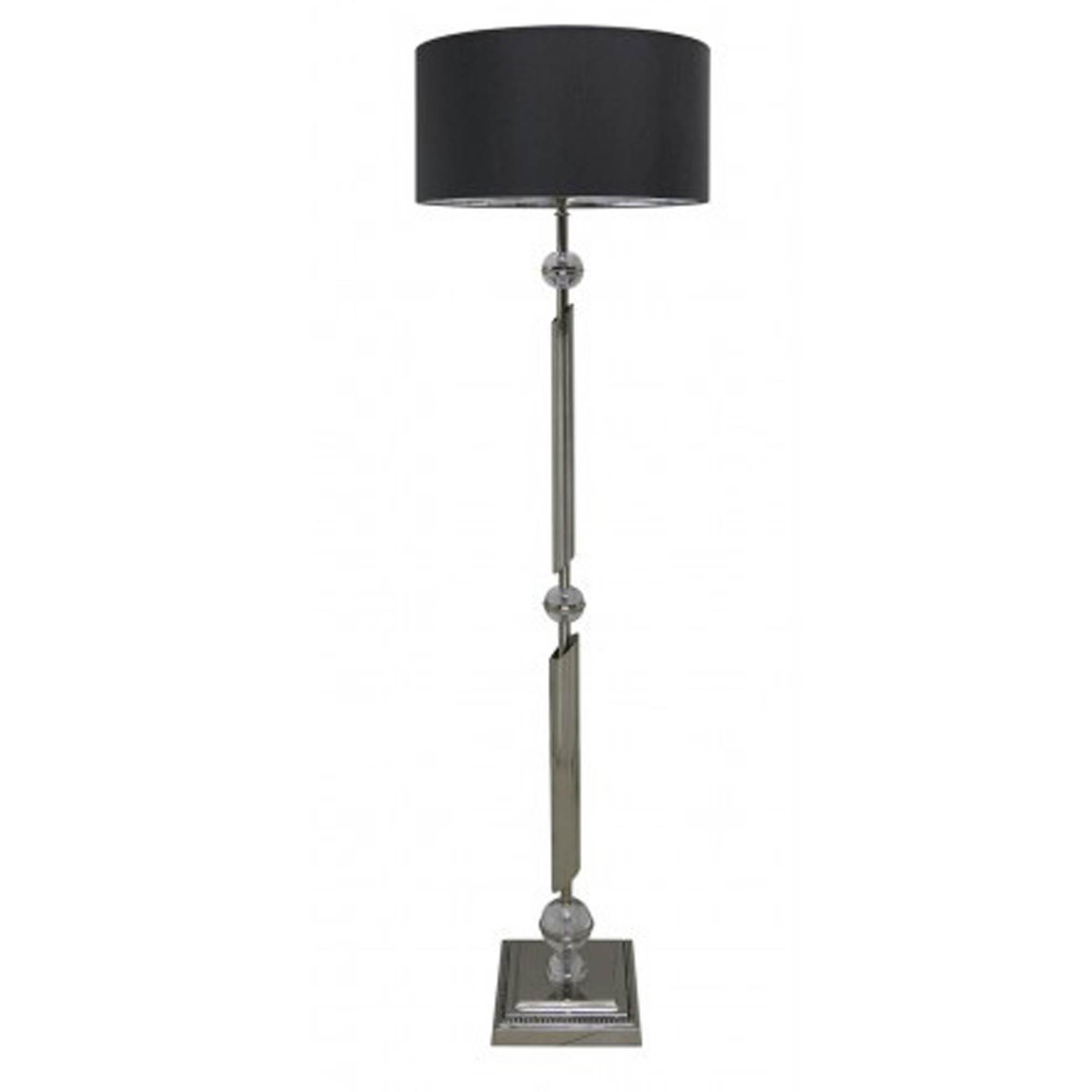 Spiral Ball Chrome Floor Lamp Decor Homesdirect365