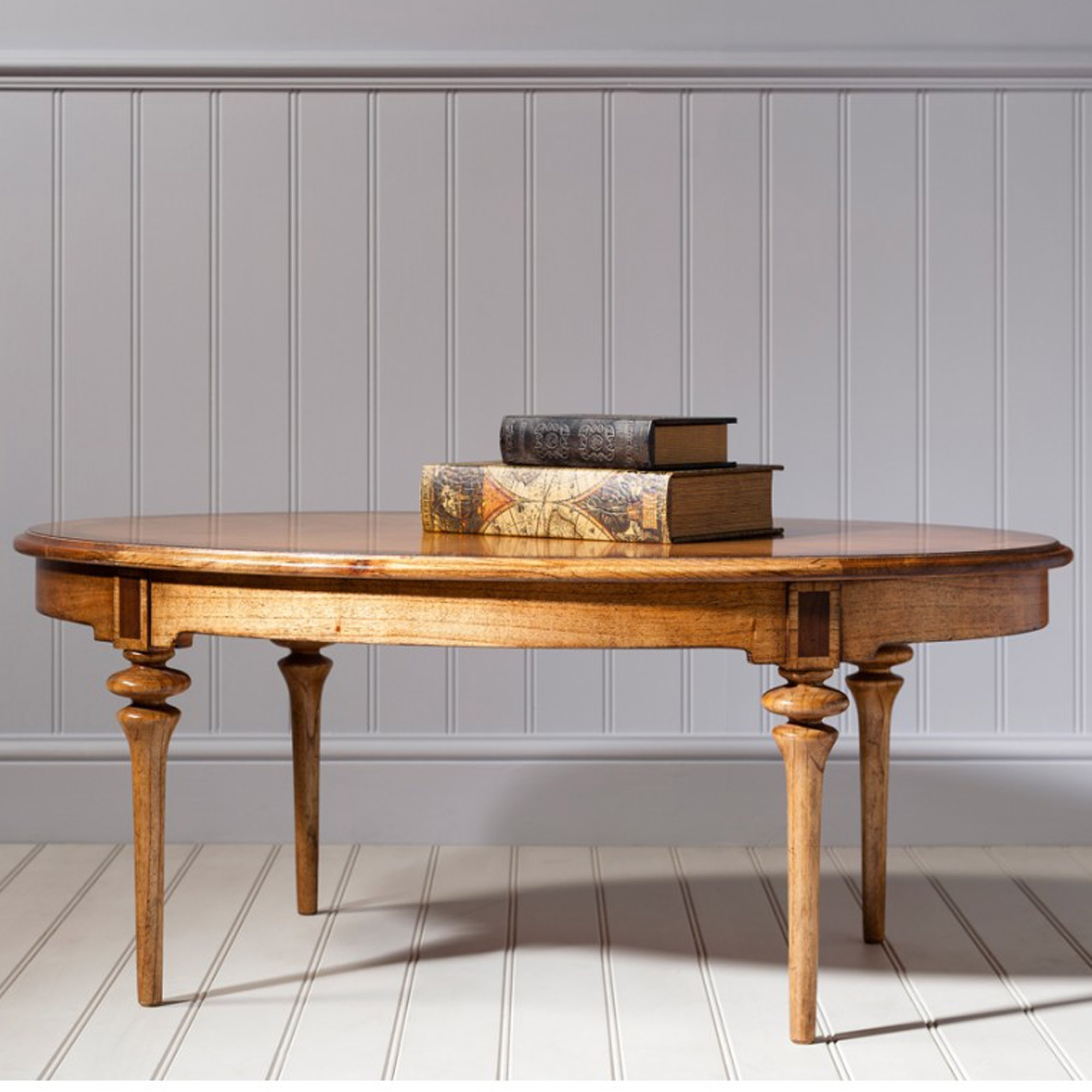 Spire Oval Antique French Style Coffee Table