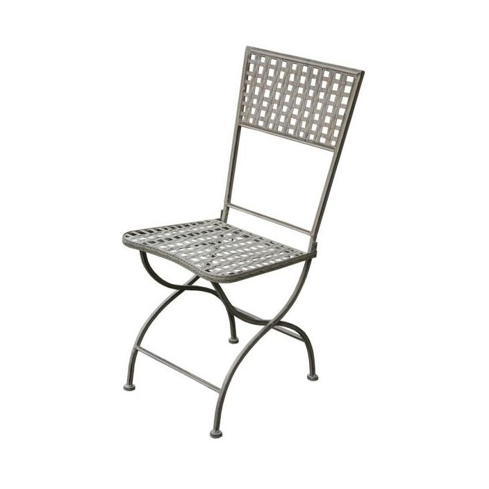 Square Lattice Metal Folding Garden Chair French Bistro Tables
