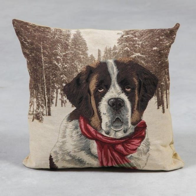 St. Bernard Tapestry Cushion
