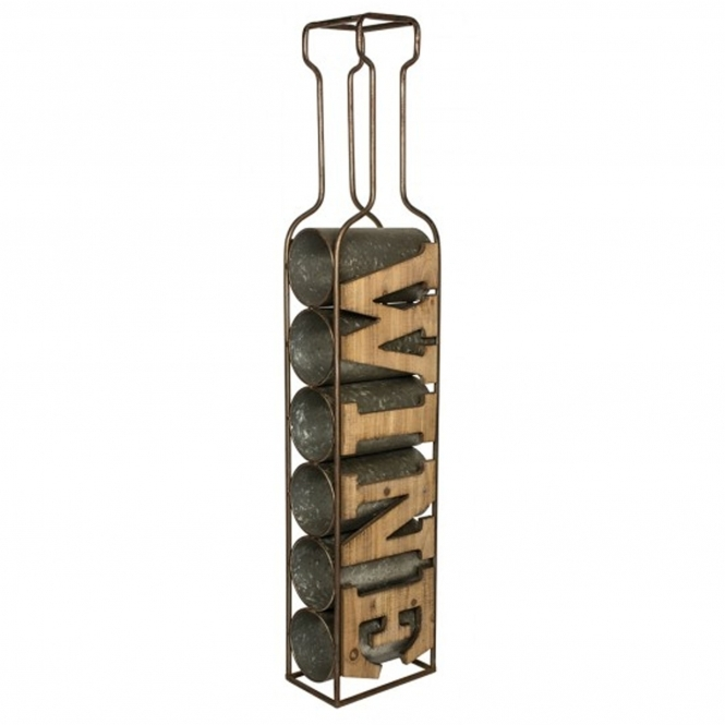 Stand Alone Wine Rack (Holds 6 Bottles)