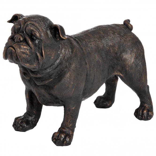 Standing Antique Bronze British Bulldog