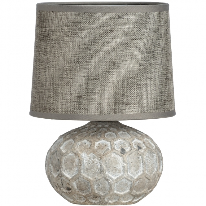 Stone Effect Patterned Ceramic Table Lamp