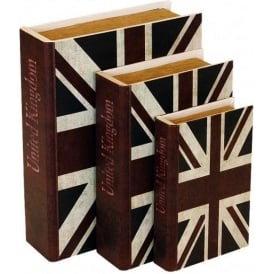 Storage Book - Union Jack (Set of 3)