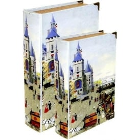 Storage Book - Village Scene (Set of 2)