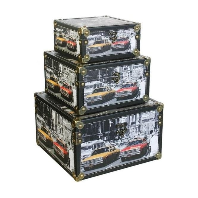 Storage Box - American Automobiles (Set of 3)