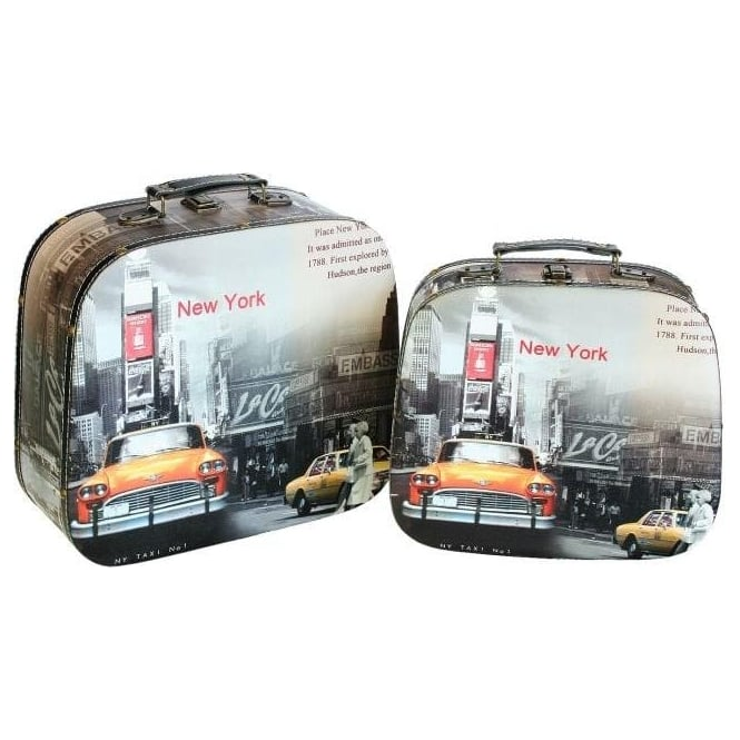 Storage Boxes - New York, New York (Set of 2)