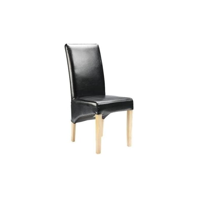Straight Back Bonded Leather Chair