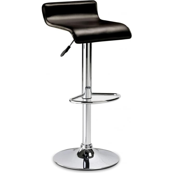 Stratos Stool - Brown Faux Leather Seat
