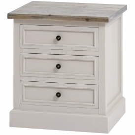 Studley Shabby Chic 3 Drawer Bedside Table
