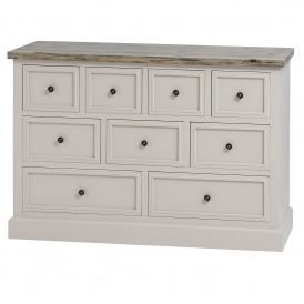 Studley Shabby Chic 9 Drawer Chest