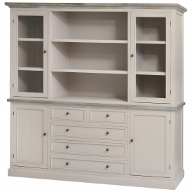 Studley Shabby Chic Large Kitchen Display Cabinet