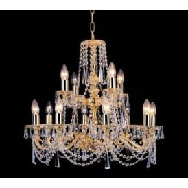 Stuttgart Brass / Gold Antique French Style Chandelier