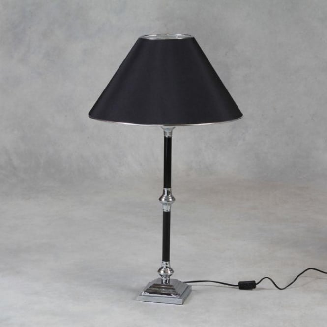 Tall Black Column Lamp