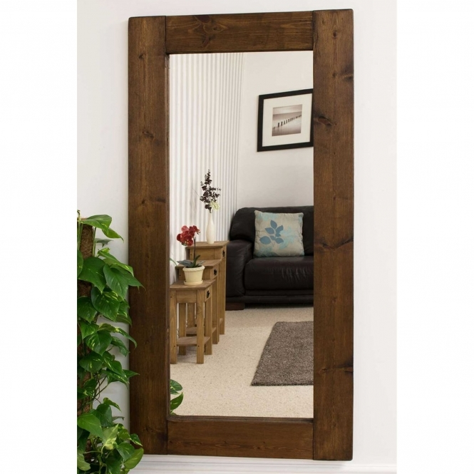 Tall Rustic Country House Wall Mirror