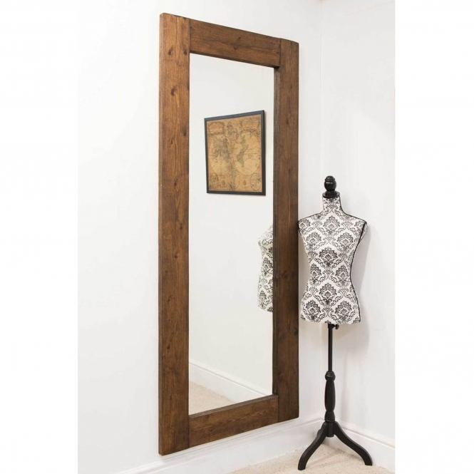 Tall Thin Rustic Country House Wall Mirror