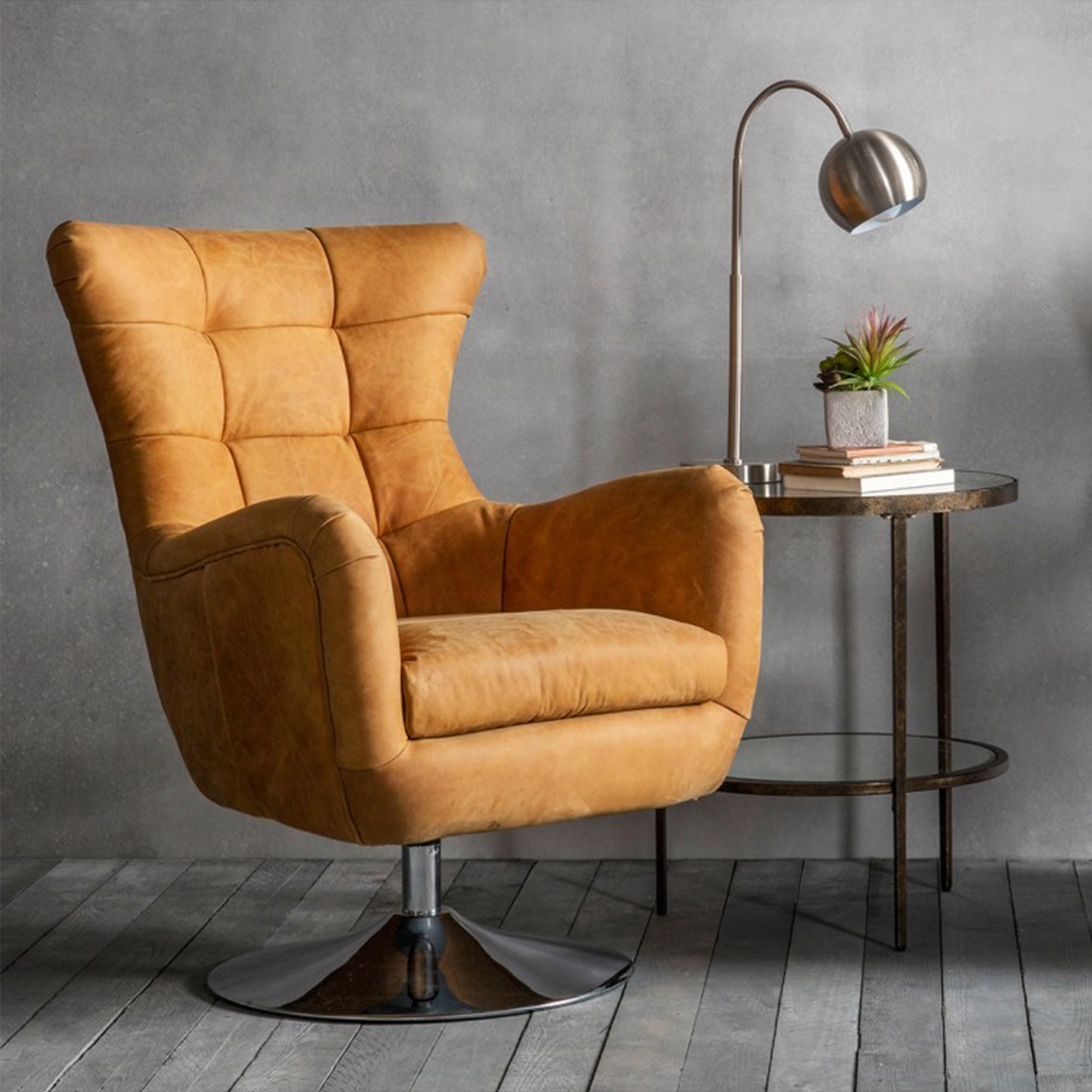 Tan Bristol Swivel Chair Contemporary Seating Modern