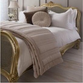 Taupe Ashby Quilted Bedspread