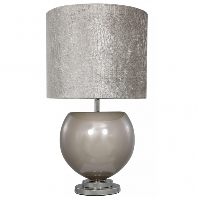Taupe Bowl Table Lamp