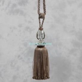 Taupe Glass Ball Tassel