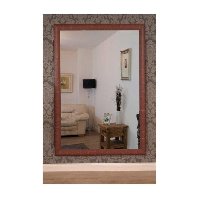 Teak Effect Wooden Shabby Chic Mirror