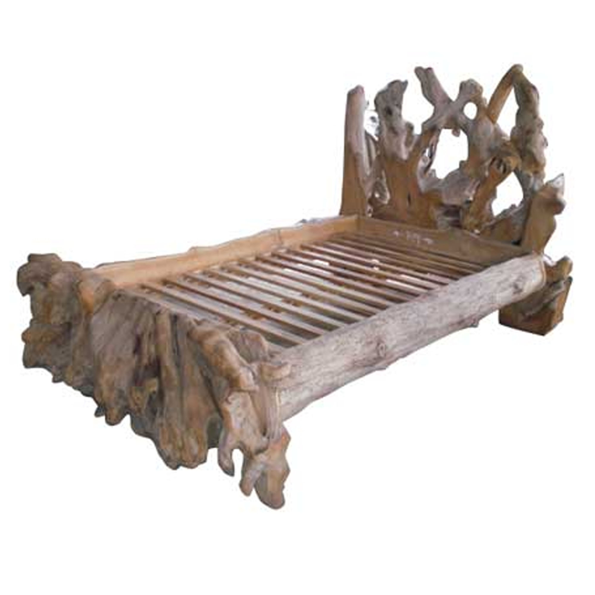 Picture of: Teak Root Bed Forest Super King Modern Bedroom Furniture