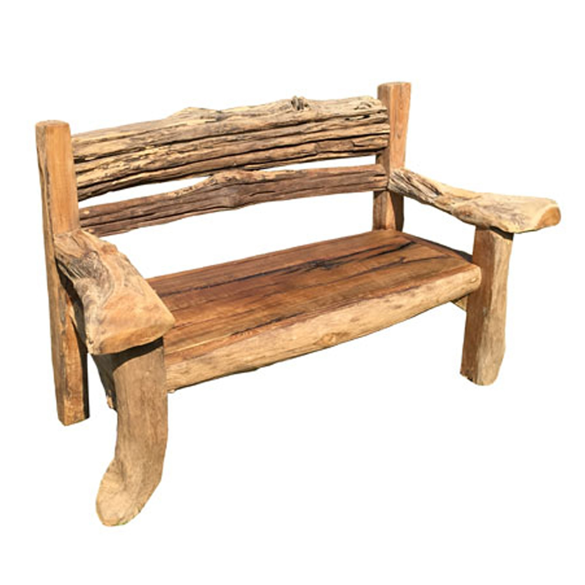 Phenomenal Teak Root Bench Rustic Garden Squirreltailoven Fun Painted Chair Ideas Images Squirreltailovenorg
