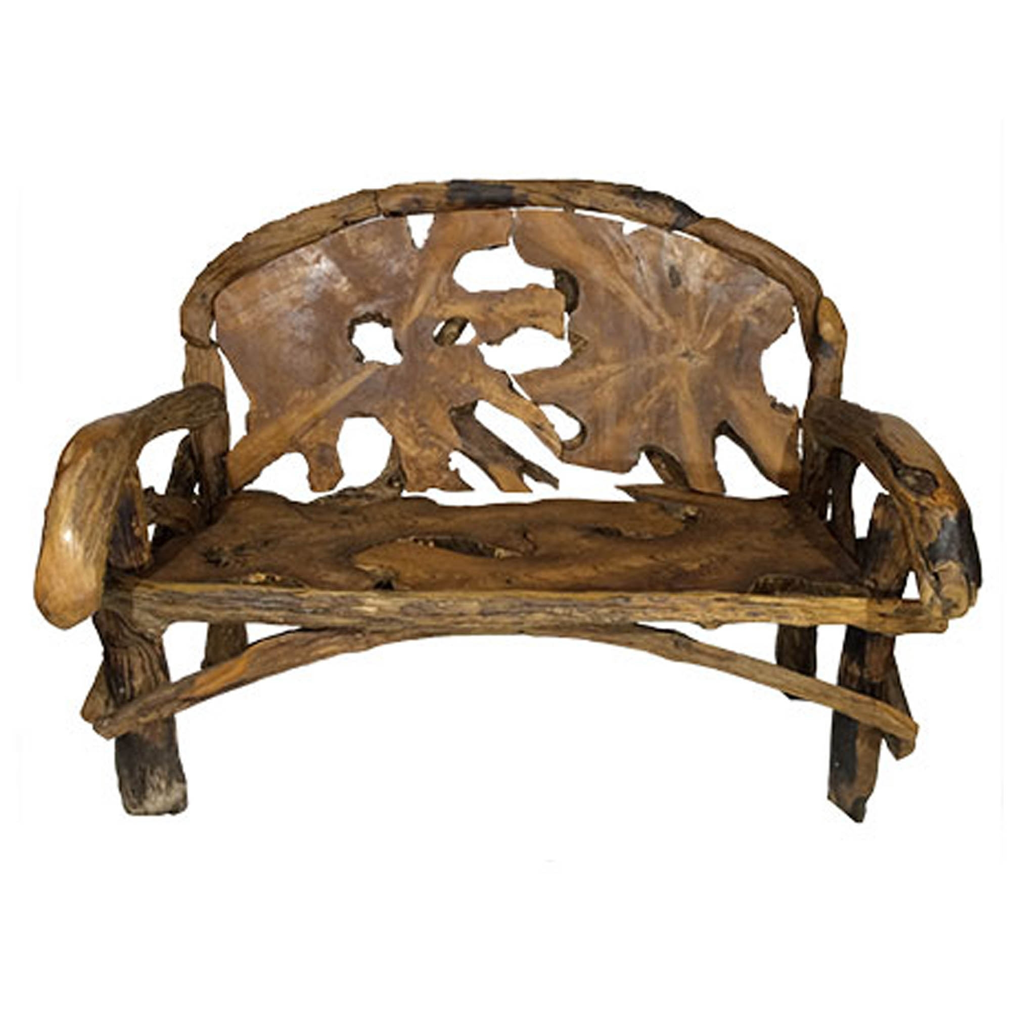 Awesome Teak Root Double Throne Chair Squirreltailoven Fun Painted Chair Ideas Images Squirreltailovenorg