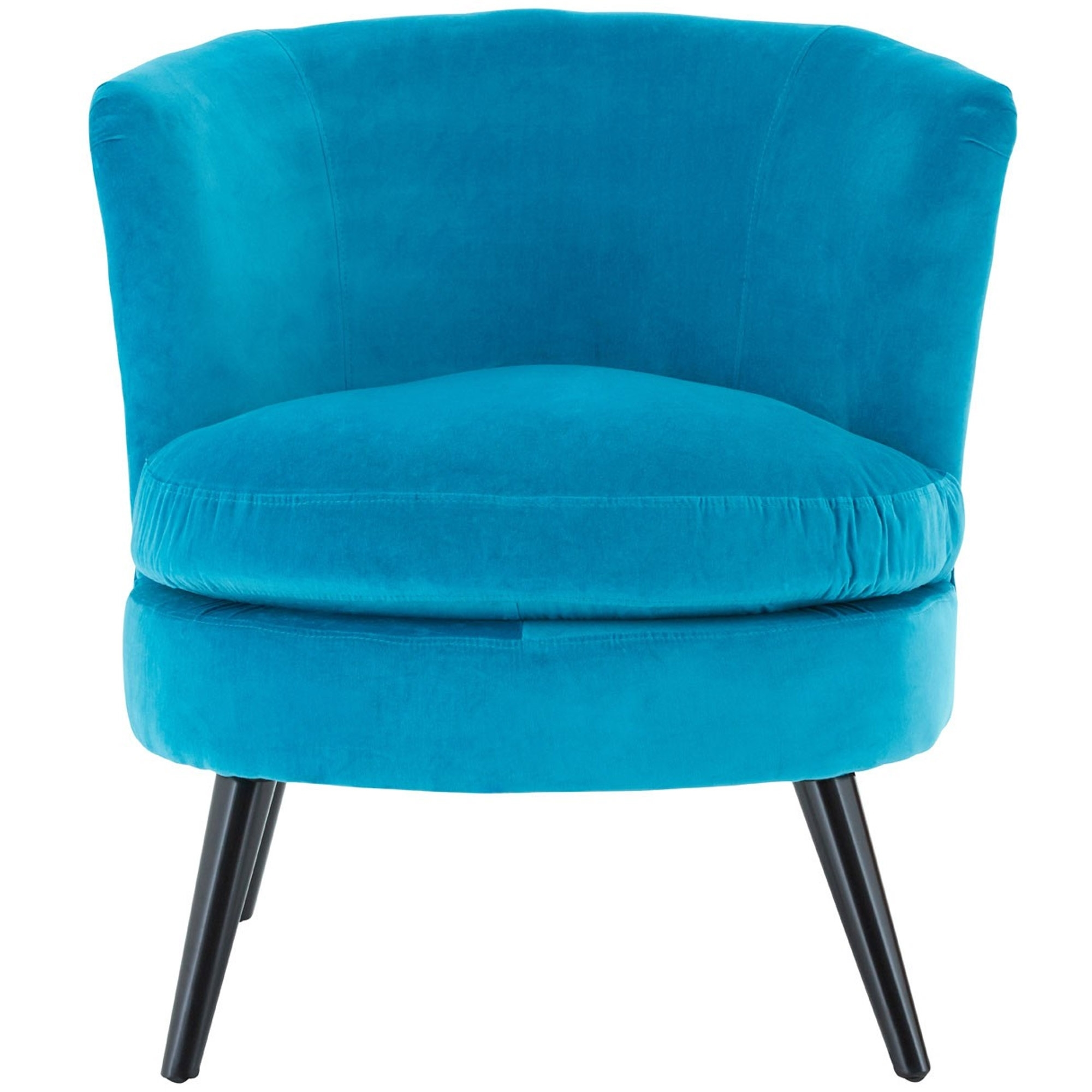 Teal Plush Velvet Round Armchair | Modern & Contemporary ...