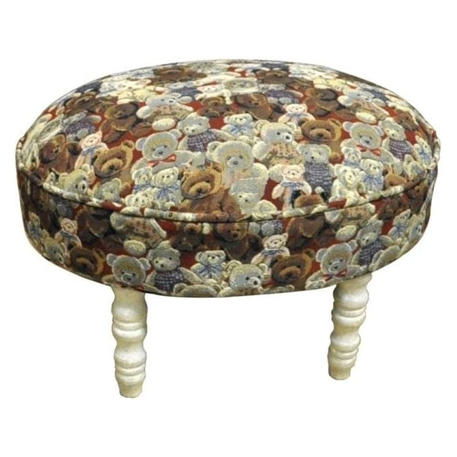 Teddies Design Oval Footstool