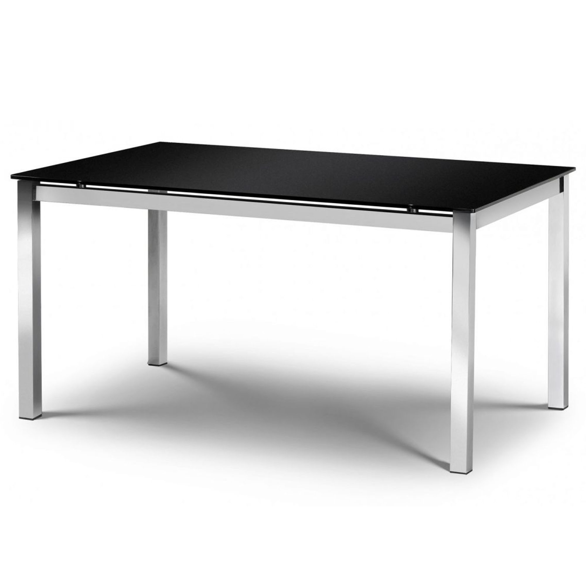 Tempo Chrome Amp Black Glass Dining Table Modern Dining