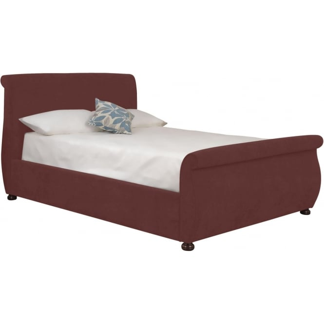 Terracotta Adore Fabric Bed