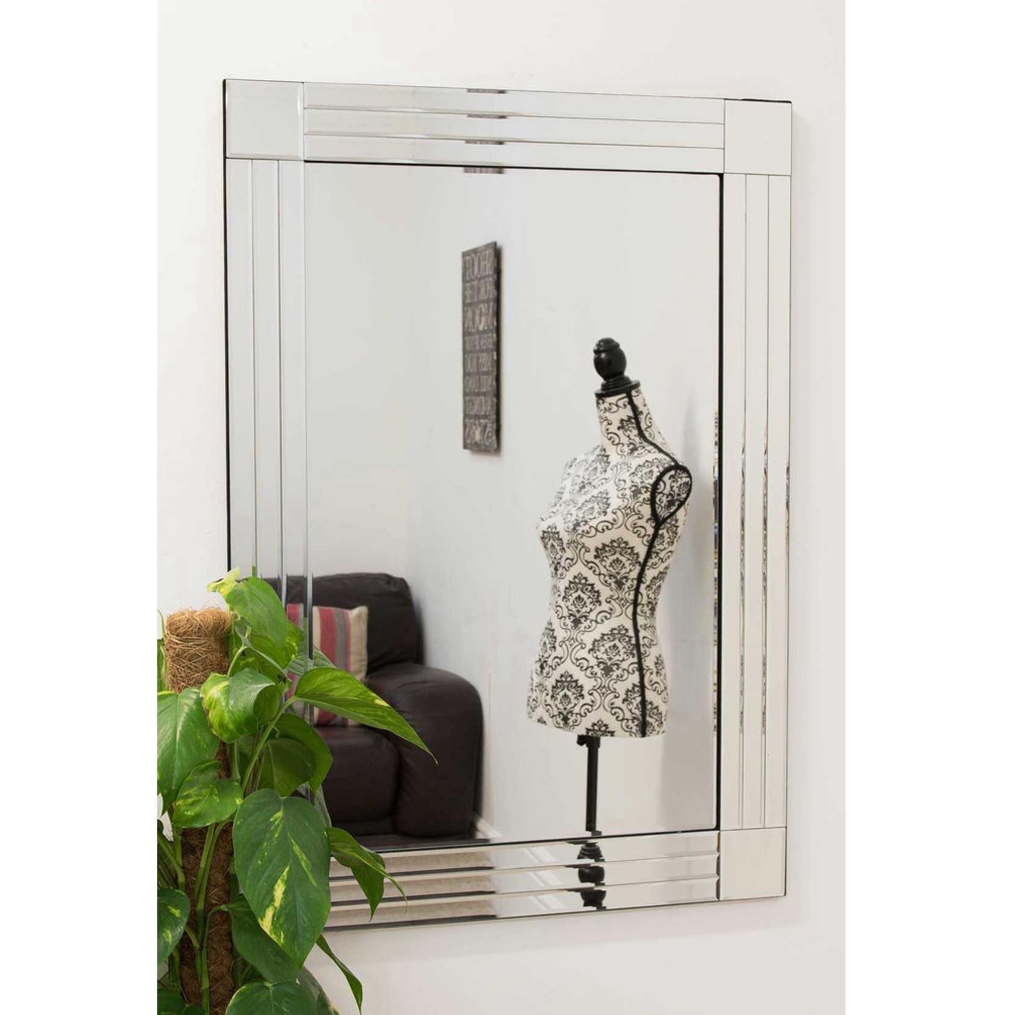 Thin Venetian Frameless Wall Mirror | HomesDirect365