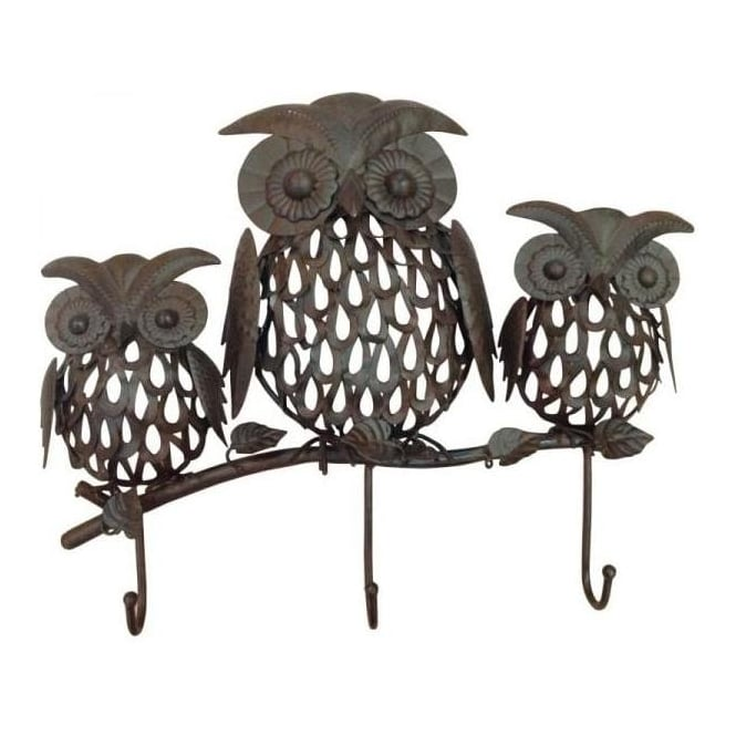 Three Wise Owls Hook Set