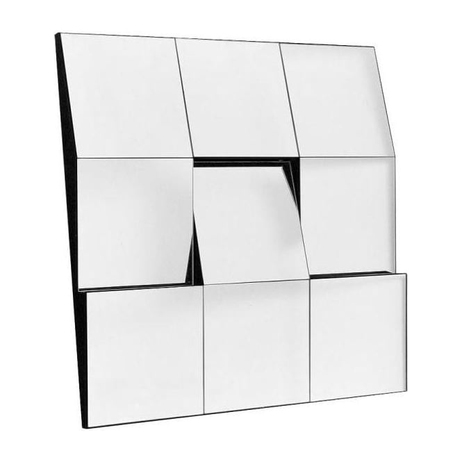 Tilted Tile Wall Mirror