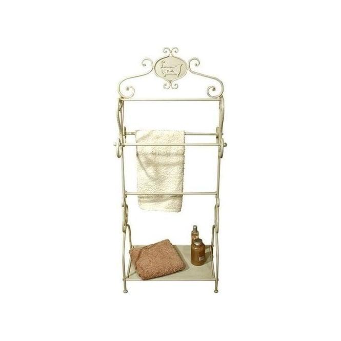 Tin Bath Antique French Style Towel Rack