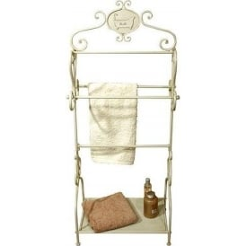 Tin Bath Antique French Style Towel Rack