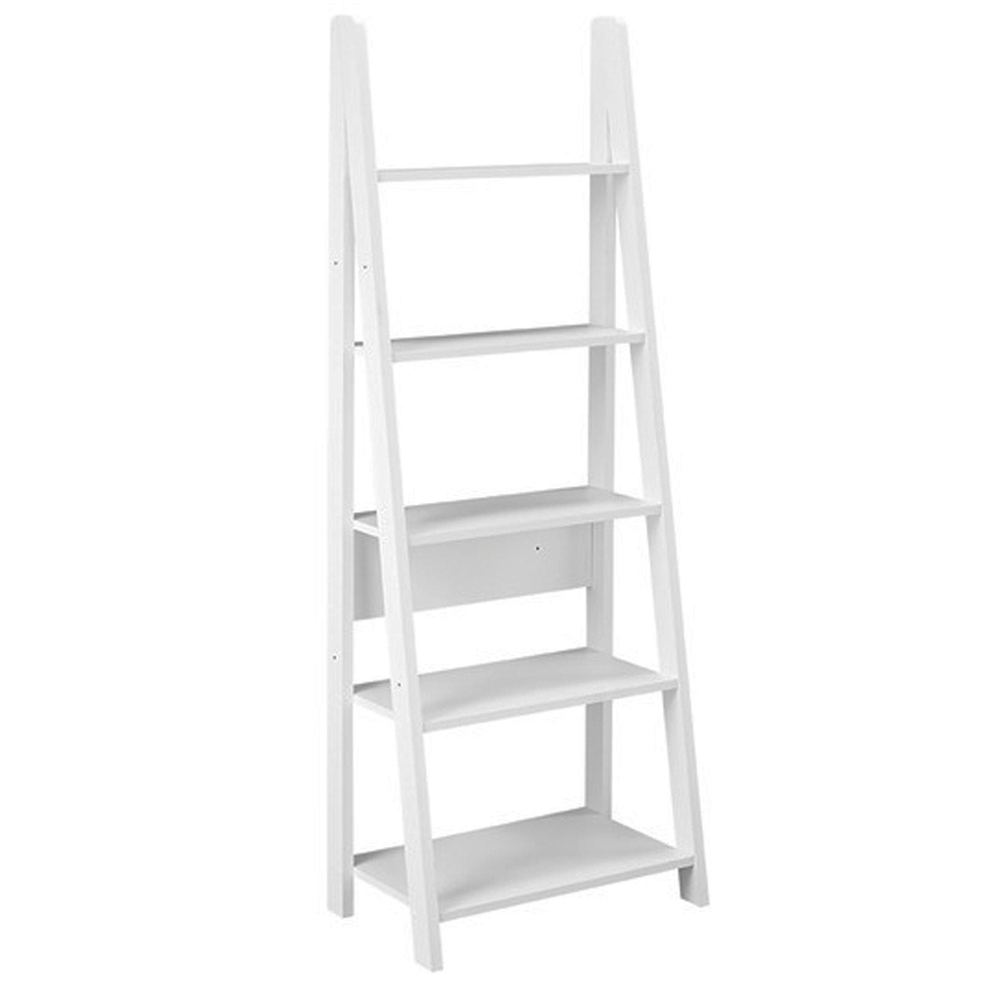 Tiva Ladder White Bookcase