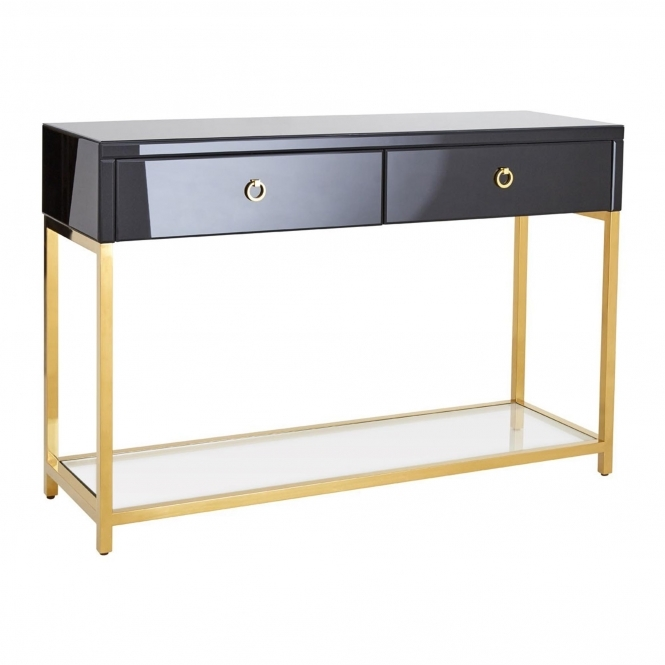 Townhouse Tempered Glass Console Table