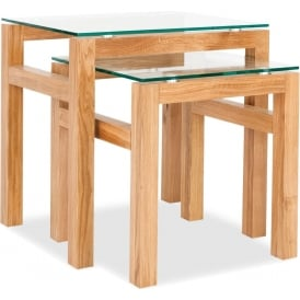 Tribeca Oak Nest Of Tables