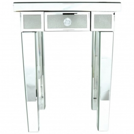 Turin Mirrored End Table