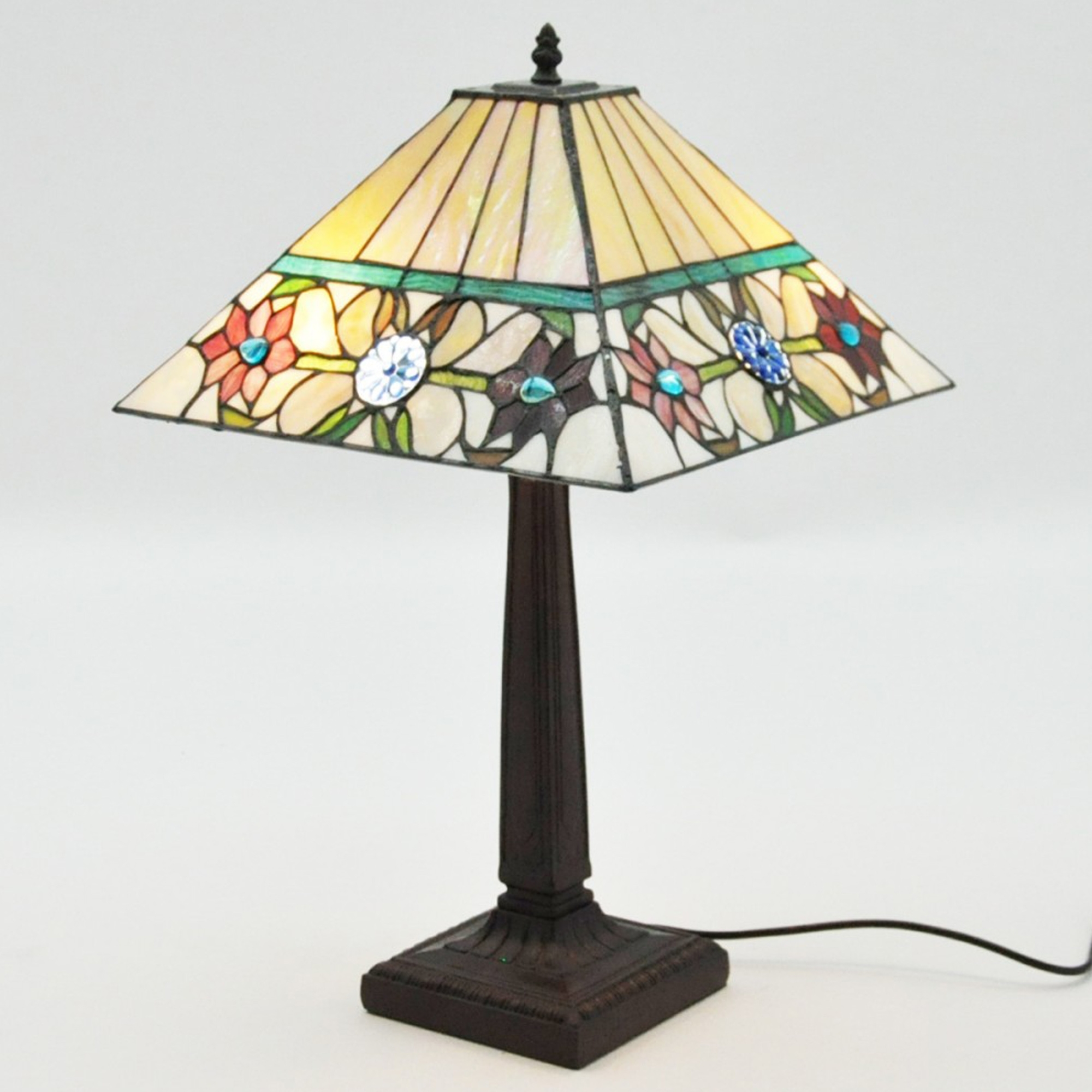 Twisted Stem Tiffany Lamp Home Accessories Tiffany Lamps
