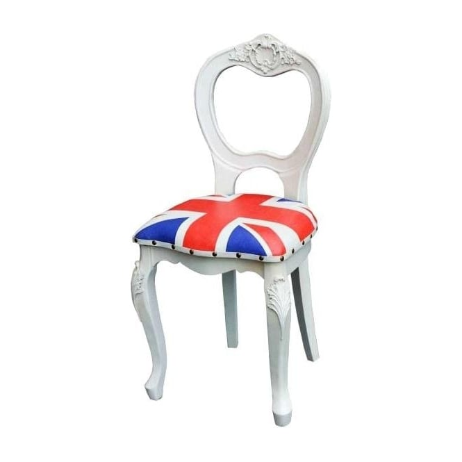 Union Jack Antique French Style Chair